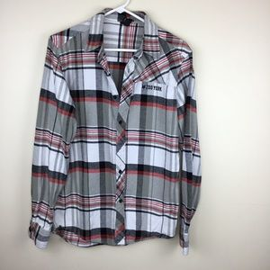 Zoo York Mens Plaid Flannel M Button Up Shirt